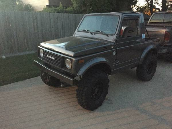 1985 suzuki samurai 4x4 hardtop w new winch for sale in central la. Black Bedroom Furniture Sets. Home Design Ideas